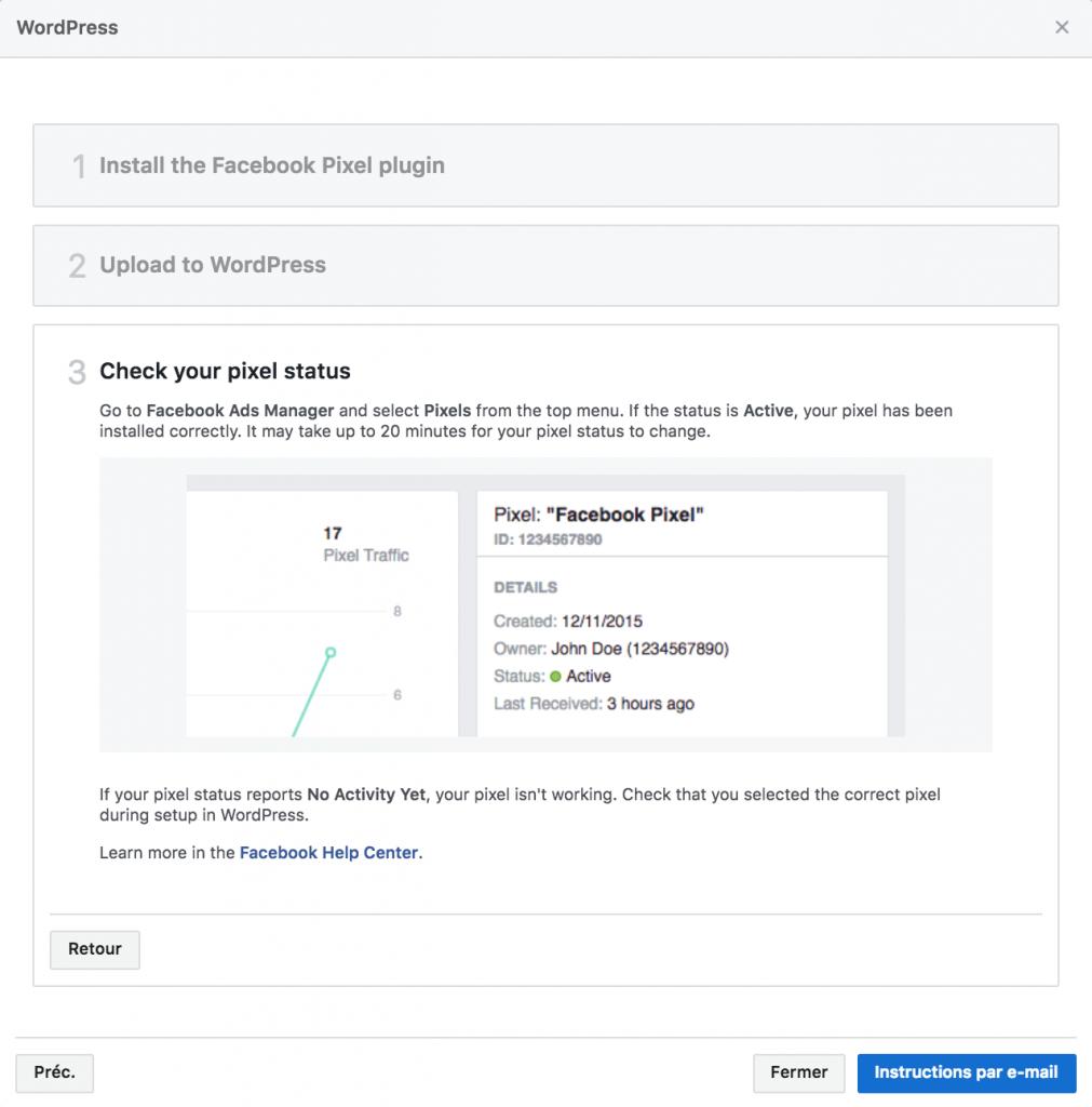 Pixel Facebook - vérification