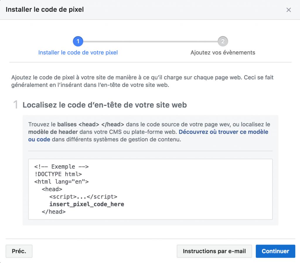 Pixel Facebook - Installer manuellement