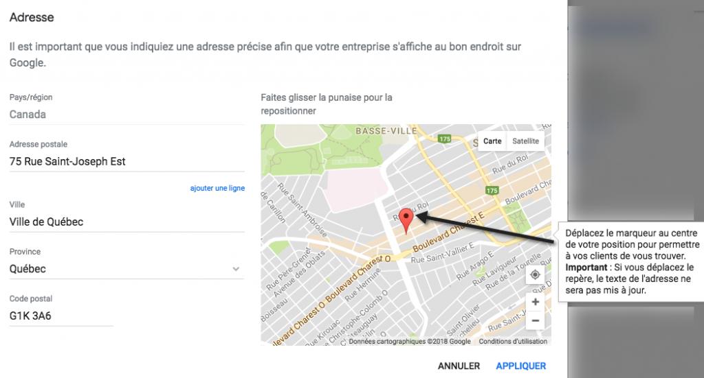 Définir la géo-localisation de votre entreprise sur Google Maps