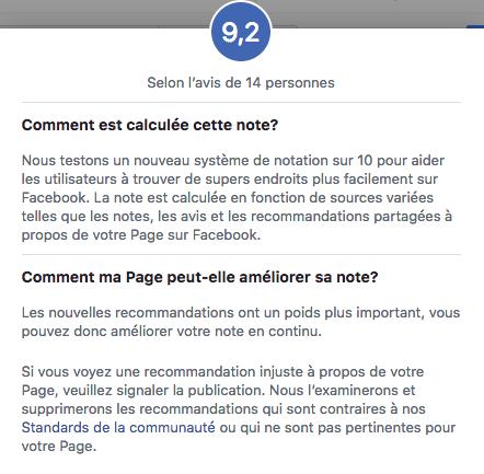 Facebook passe maintenant à un système d'avis reposant sur une échelle de 10 points