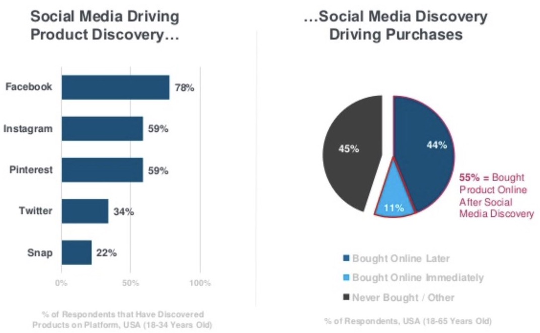 Social media drives discovery... and online purchase!