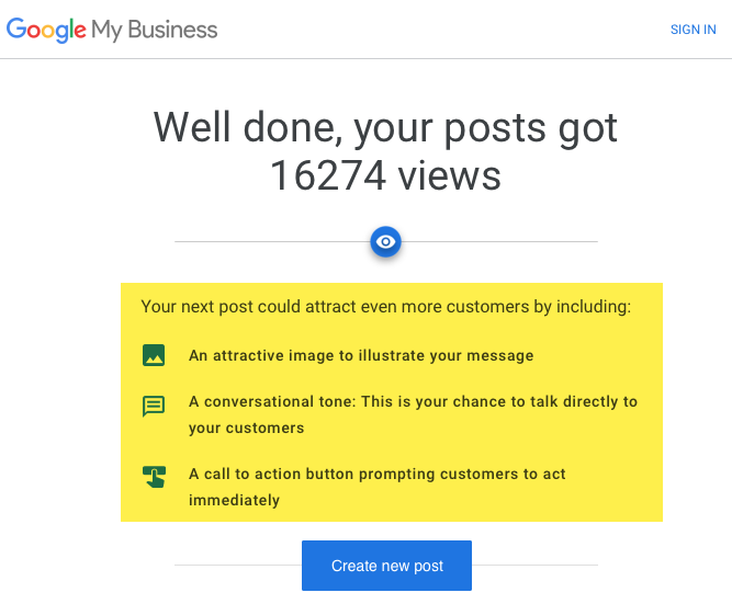 Google My Business now pushes even more message posting
