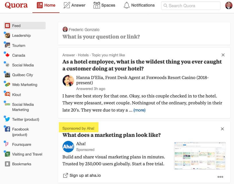 La plateforme de questions et réponses Quora