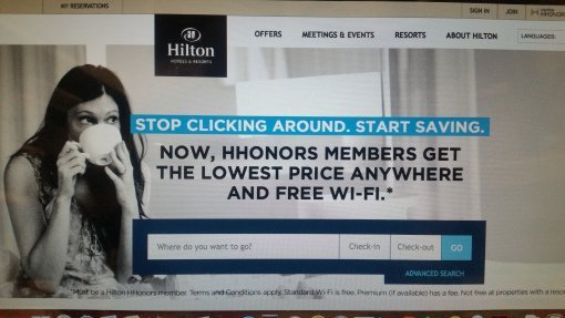 "Hilton's ""Stop Clicking Around"" campaign"