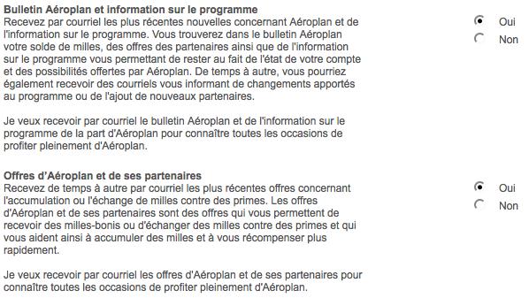 explicatif courriel Aeroplan