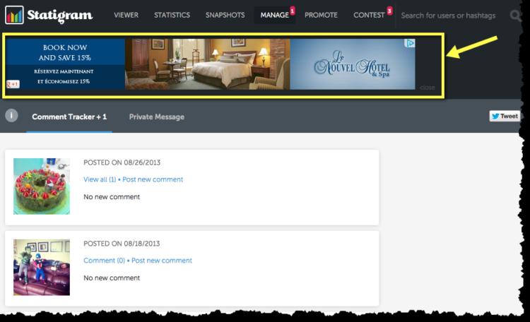 Exemple de re-marketing avec Le Nouvel Hôtel