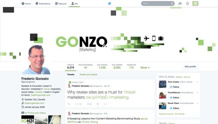 Nouveau profil Twitter - Frederic Gonzalo