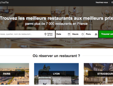 Site web La Fourchette