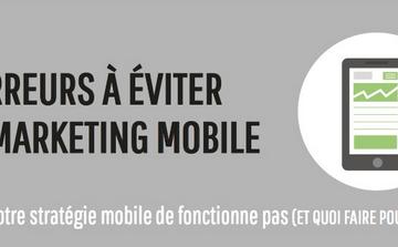 6 erreurs à éviter dans votre marketing mobile