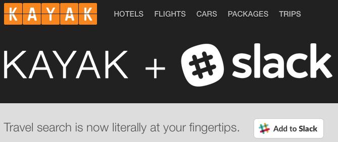 Kayak + Slack