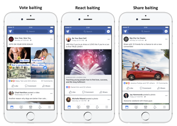 Engagement baiting to decrease on Facebook