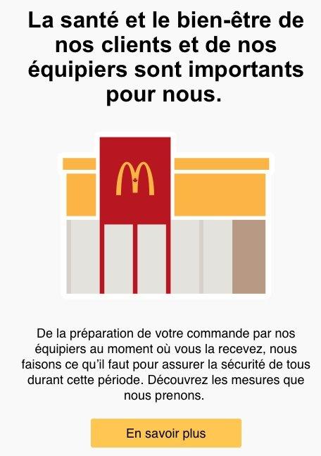 Infolettre McDonalds