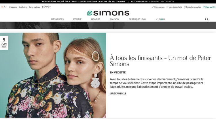 Blogue du site web Maison Simons