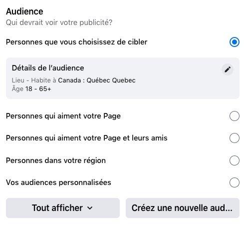 Le nouveau Facebook ne permet plus la création d'audiences personnalisées ou similaires