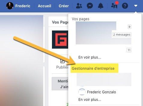 Comment accéder au gestionnaire d'entreprise Facebook