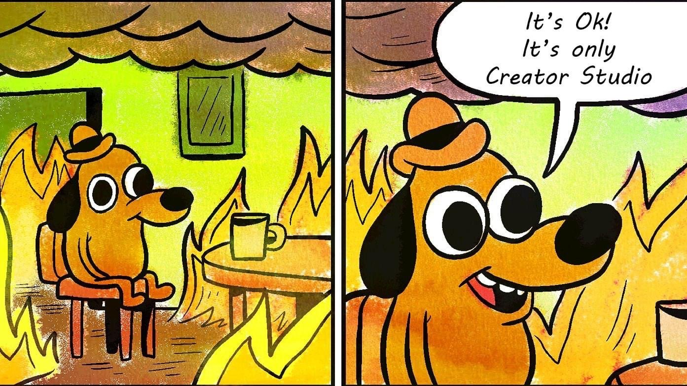 It's OK, it's only Creator Studio