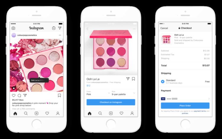 Instagram in-app checkout