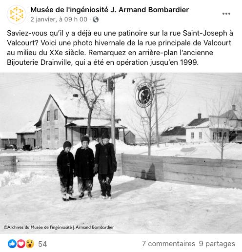 Musée de l'ingéniosité J. Armand Bombardier sur Facebook