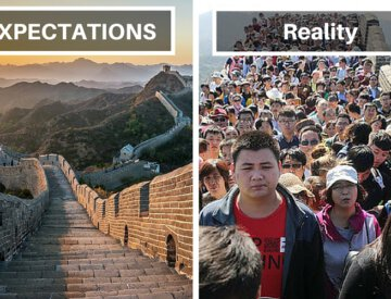 Travel expectations versus reality