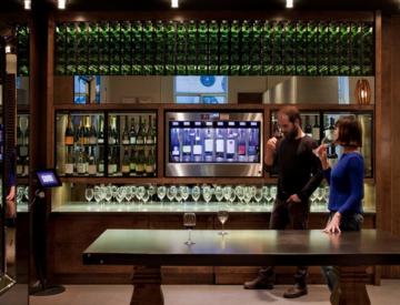 Automated wine & spirits hotel bar